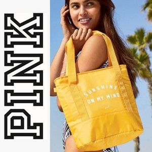 NWT, Victoria's Secret PINK Cooler Tote Yellow